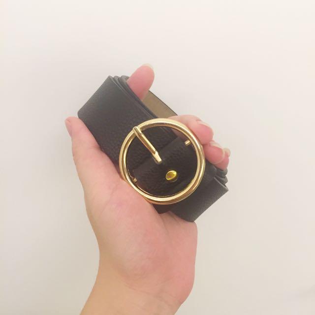 降價‼️金屬圓頭扣環皮帶 黑色