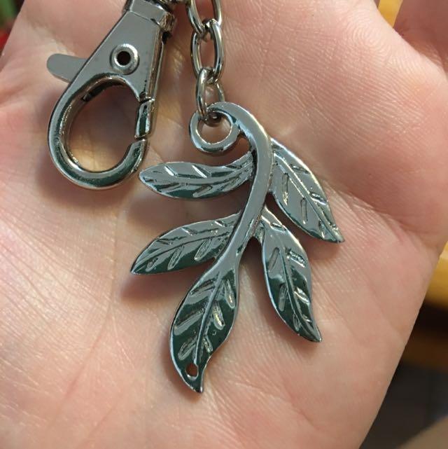 樹葉 金屬 吊飾 質感非凡 兩種環扣