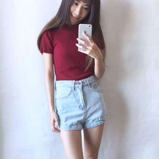 出清 韓國高腰牛仔褲S