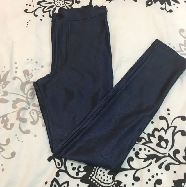 American Apparel Disco Pants In Navy