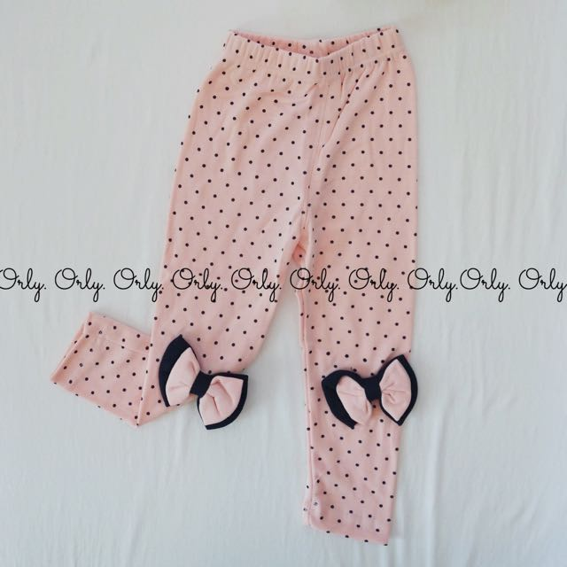 Baby Legging Polkadot With Bow