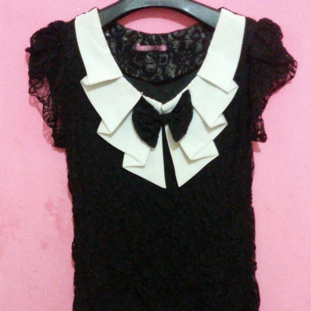 baju lace hitam