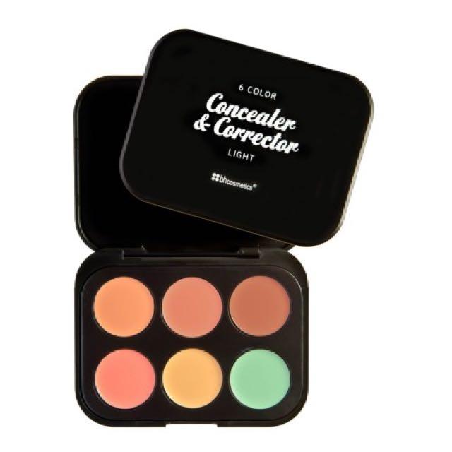 BH Cosmetics 6 Color Concealer & Corrector - Light