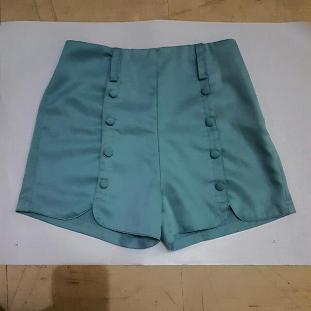 [RESERVED] Blue highwaist shorts