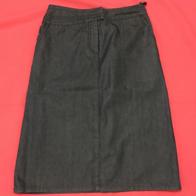 Bluish Black Skirt