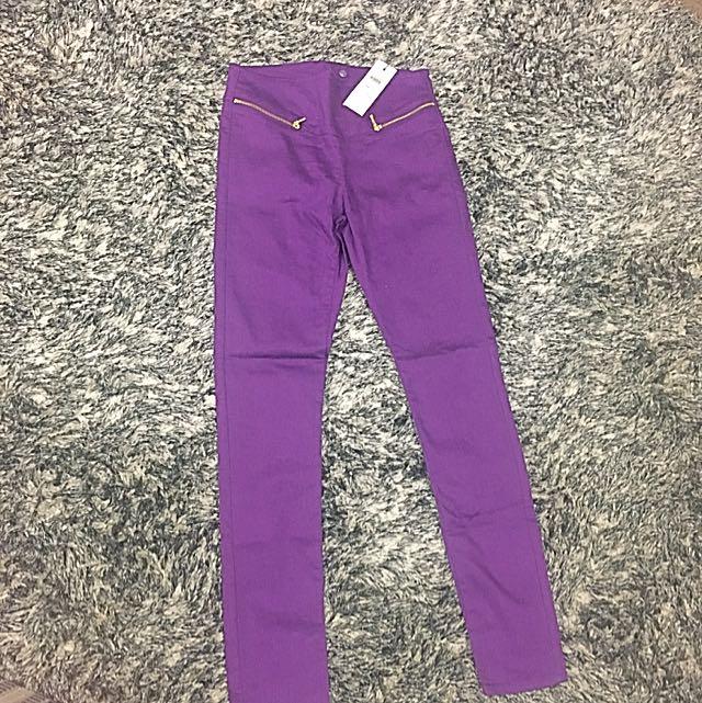 BNWT Purple Vero Moda Pants Size 10
