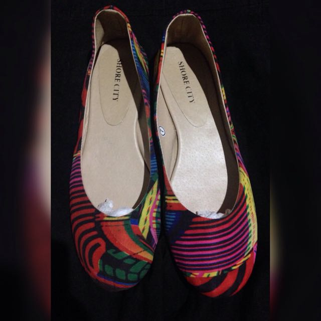 colorful silk shoes