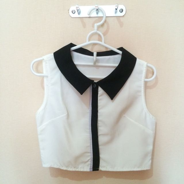 Crop Collar Top
