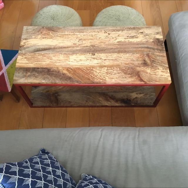 Customer-made Manga Wood Coffee Table With Steel Frame