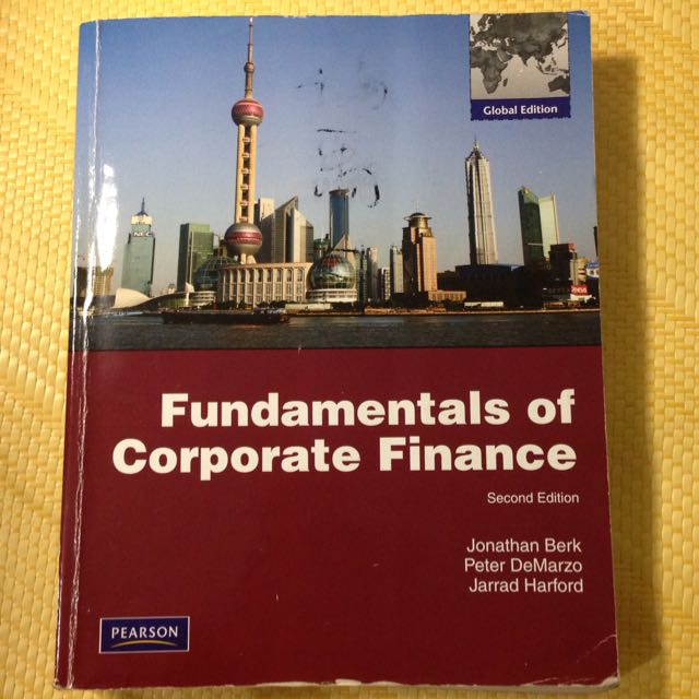 Fundamentals Of Corporate Finance財管