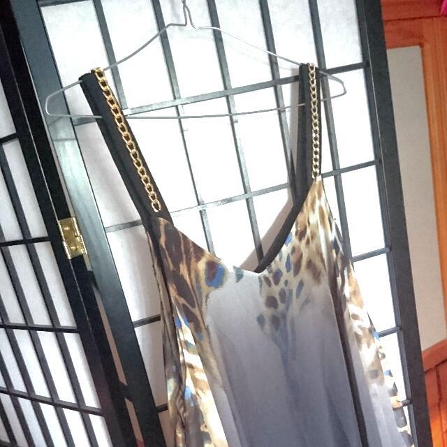 Gorgeous SHEER Tiger Pattern Dress - Size M