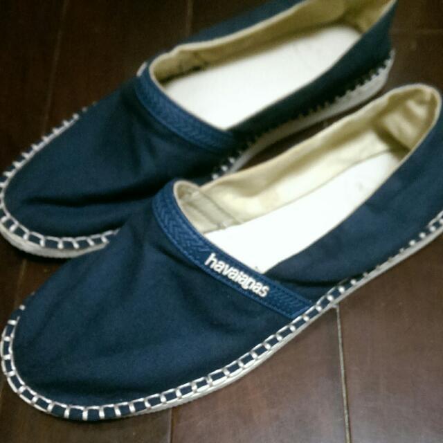 哈瓦士havaianas休閒鞋懶人鞋深藍41號