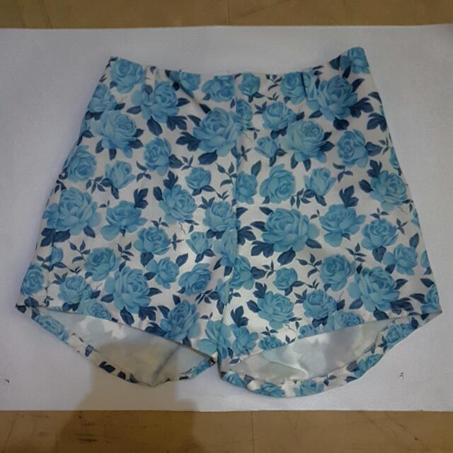 Highwaist Blue Rose Shorts