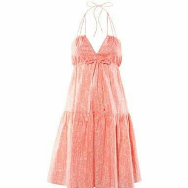 H&M Patterned Apricot Dress
