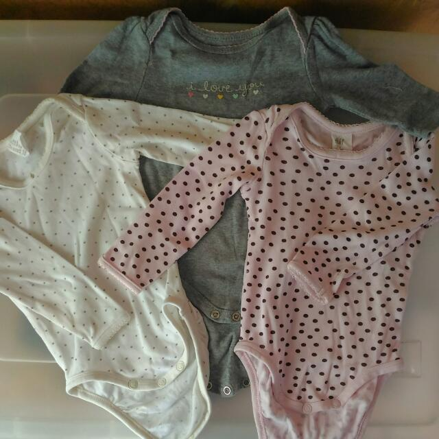 Take All!! H&M/Circo Baby Girl Onesies