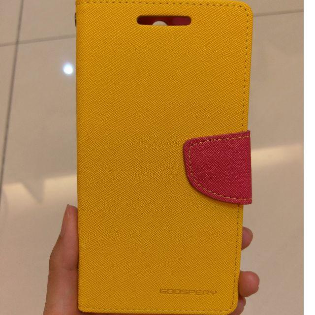 HTC One M8 翻蓋掀蓋手機套 皮套 手機殼-黃色