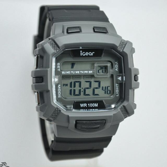 Jam Tangan Pria IGear i66 Rubber Digital Original Murah