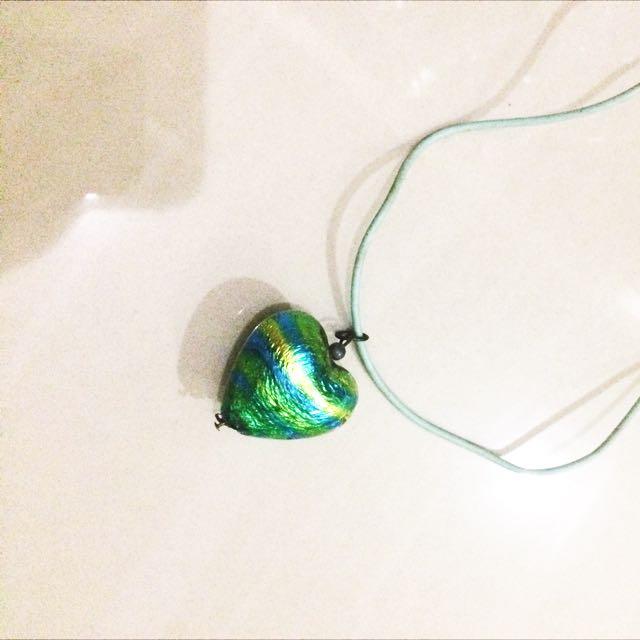 Kalung Necklace Hati Hijau