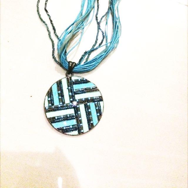 Kalung Necklace Hobo Biru Blue
