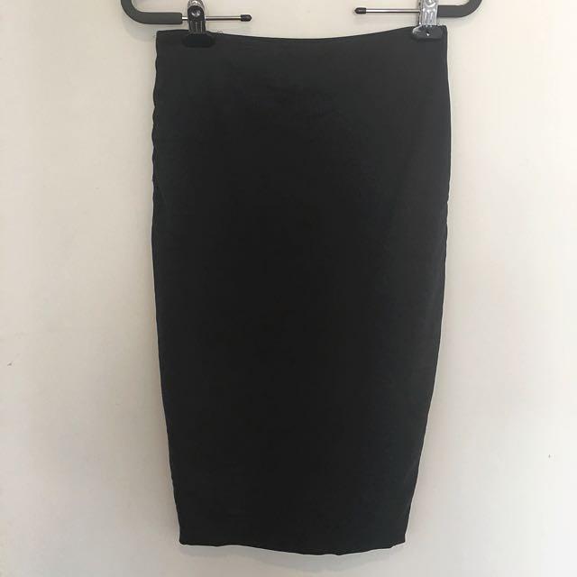 Kookai Black Bodycon Skirt