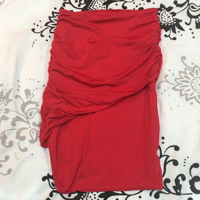 Kookai Midi Skirt In Red