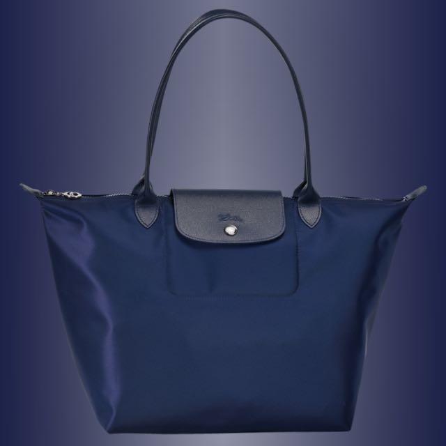 Longchamp Neo 深藍 長把