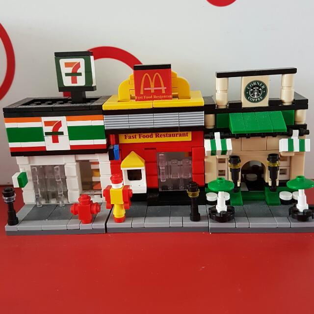 Mini Modulo Brick Shops bricks set (Not Lego) Mini Street