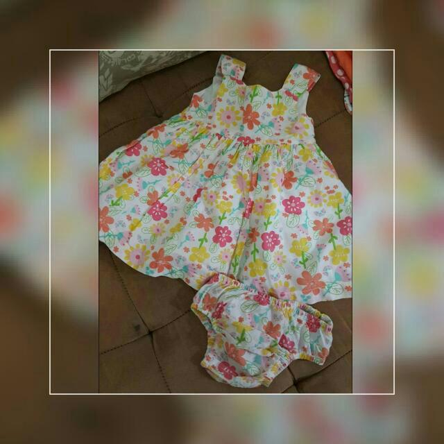 Mothercare Floral Dress with Undies