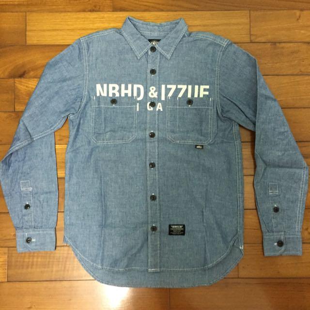 neighborhood X izzue 襯衫(聯名 nhiz 單寧 軍事)(降)
