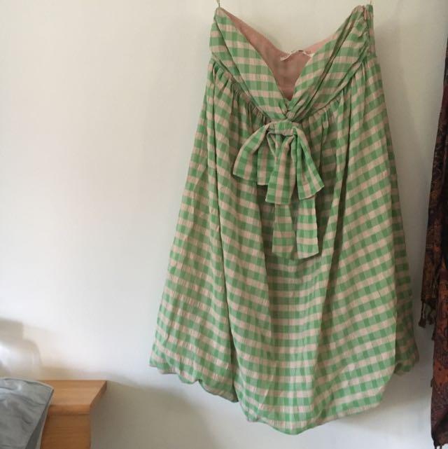 NEW Strapless Green Dress