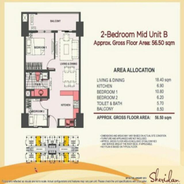 [PRE-SELLING] 2BR Unit Sheridan North Tower   with Parking