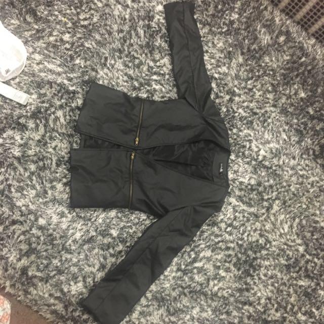 PU Leather Jacket Size s