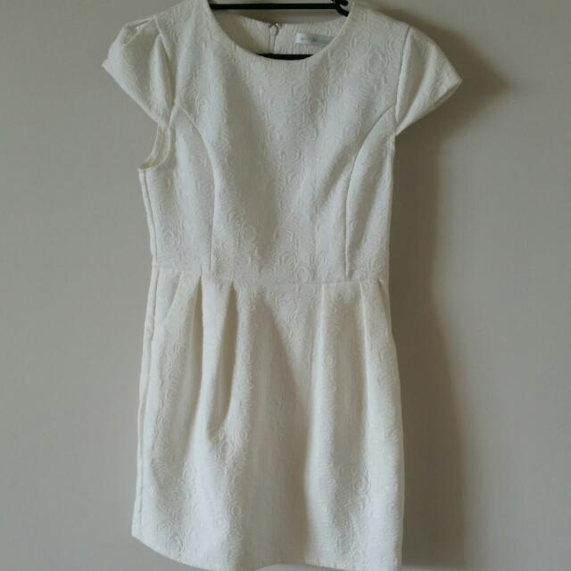 Quirky Circus White Dress