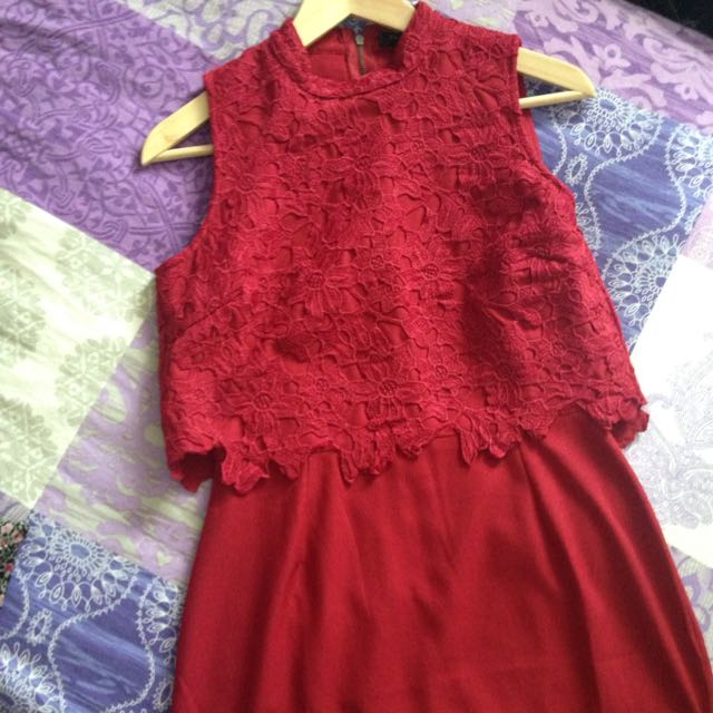 Red Lacey Dress