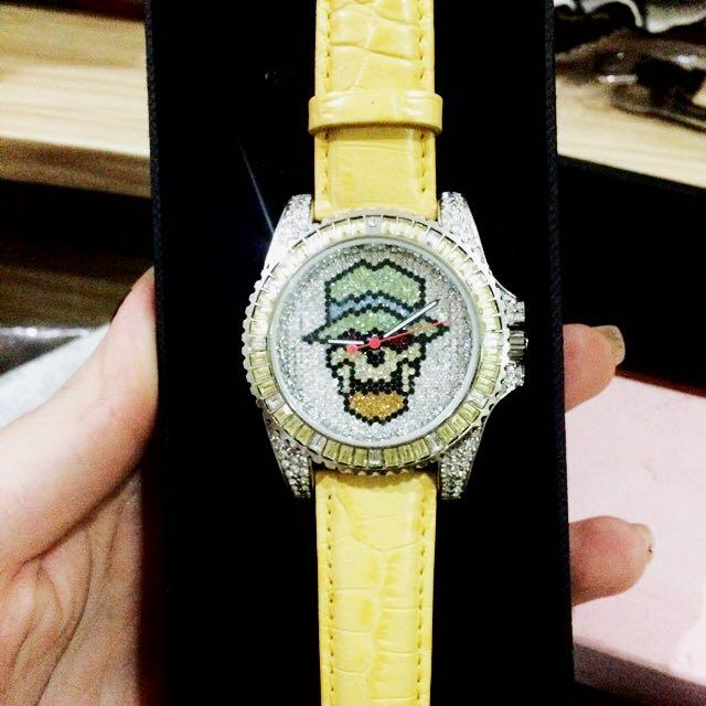 SK Time Jam Watch Skull