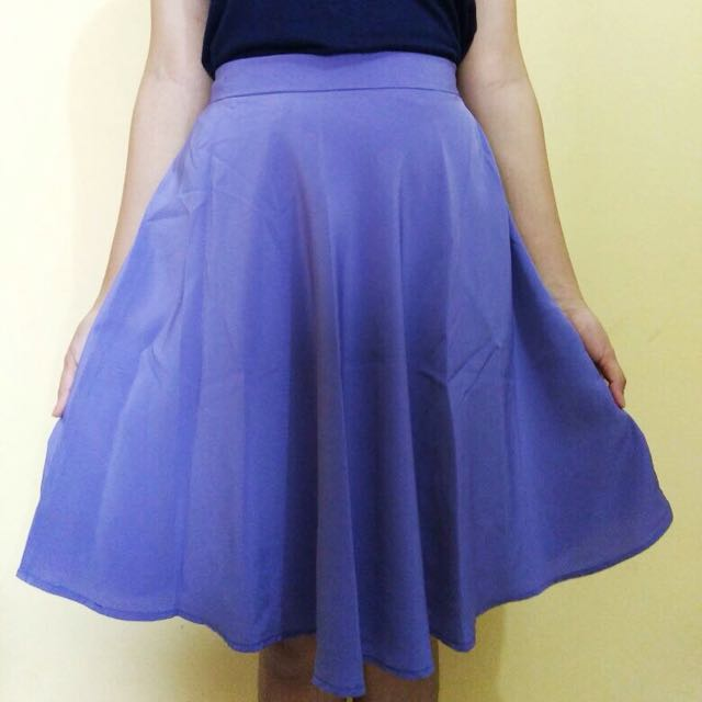 Soft Purple Flare Skirt
