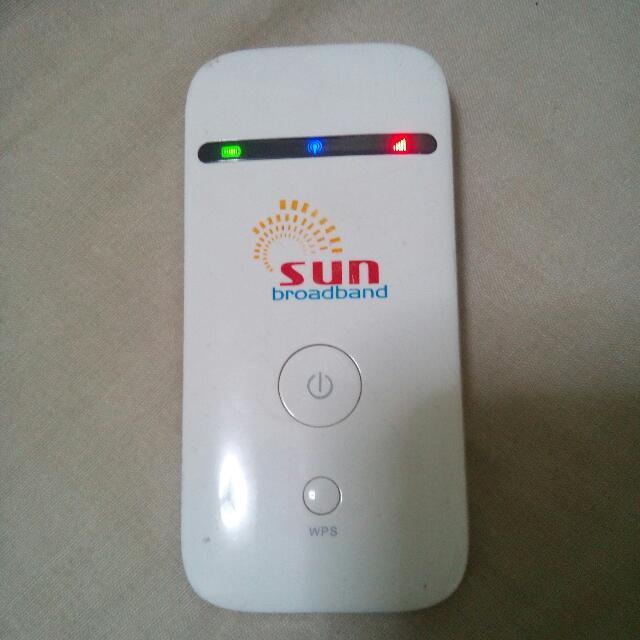 SUN BROADBAND POCKET WIFI w/FREE SIM (prepaid)