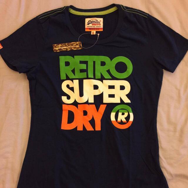 Superdry產地直送女生藍色上衣L號適合