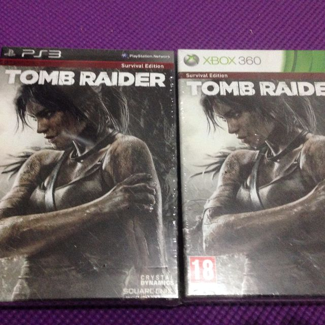 Tomb Raider Survival Edition PS3 & 360 Brand New & Sealed