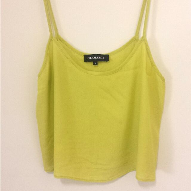Yellow Cropped Cami