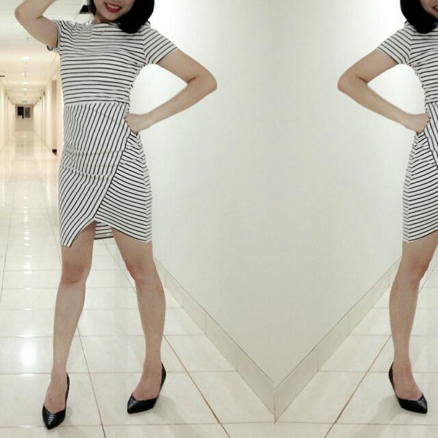 Zara Trafaluc Stripe Dress (Size XS)
