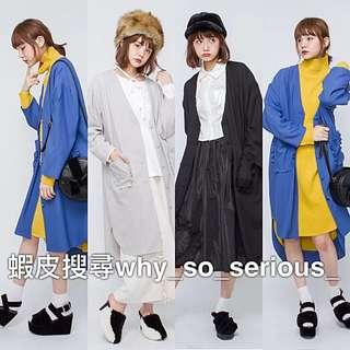 🚫預購🚫日本品牌merry jenny3色夢幻日系甜美花邊口袋設計中長版薄款開衫外套