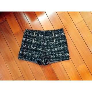 Lulu's Lulus 雙拉鍊混金蔥毛呢褲
