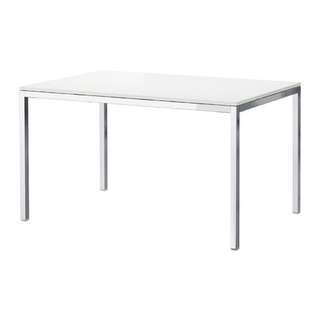 White Glass TORSBY Table