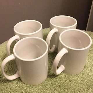 4 Unused Coffee Mugs