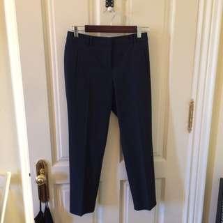 Navy Cropped Dress Pants