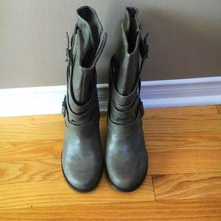 Grey Booties by Madden Girl.  Size 9.