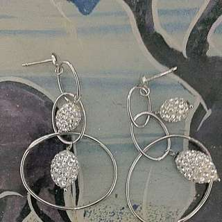 Swarovski Earring , White Gold