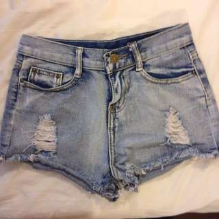 Denim Washed Shorts