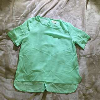 Mint Coloured Top
